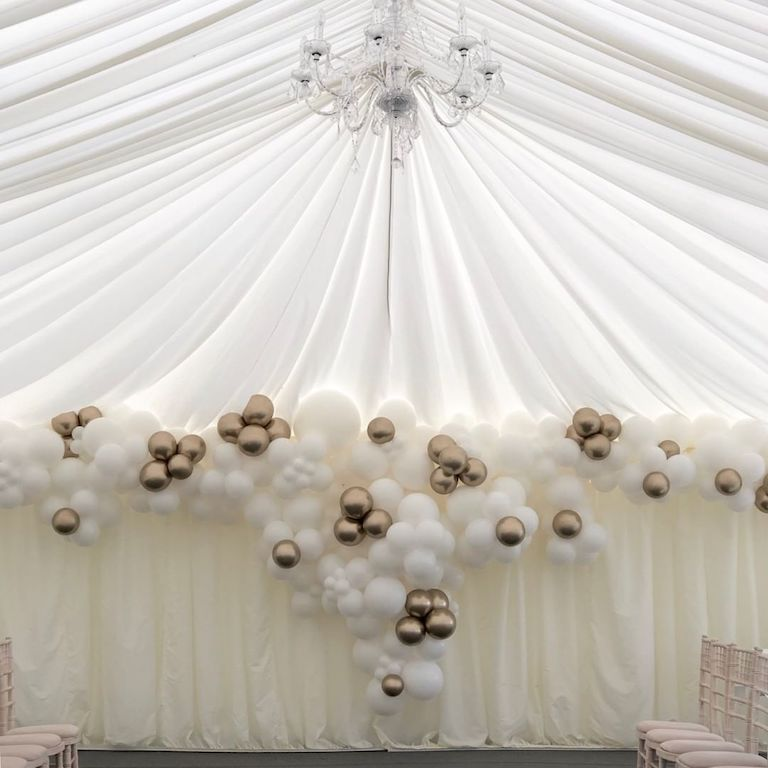 wedding marquee balloons