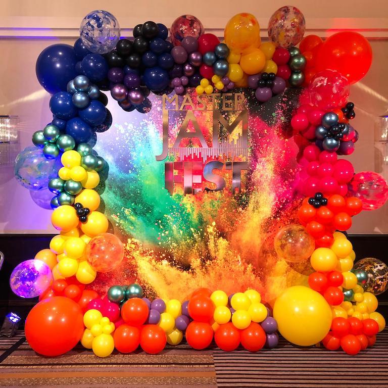 Jam Fest multicolour balloons