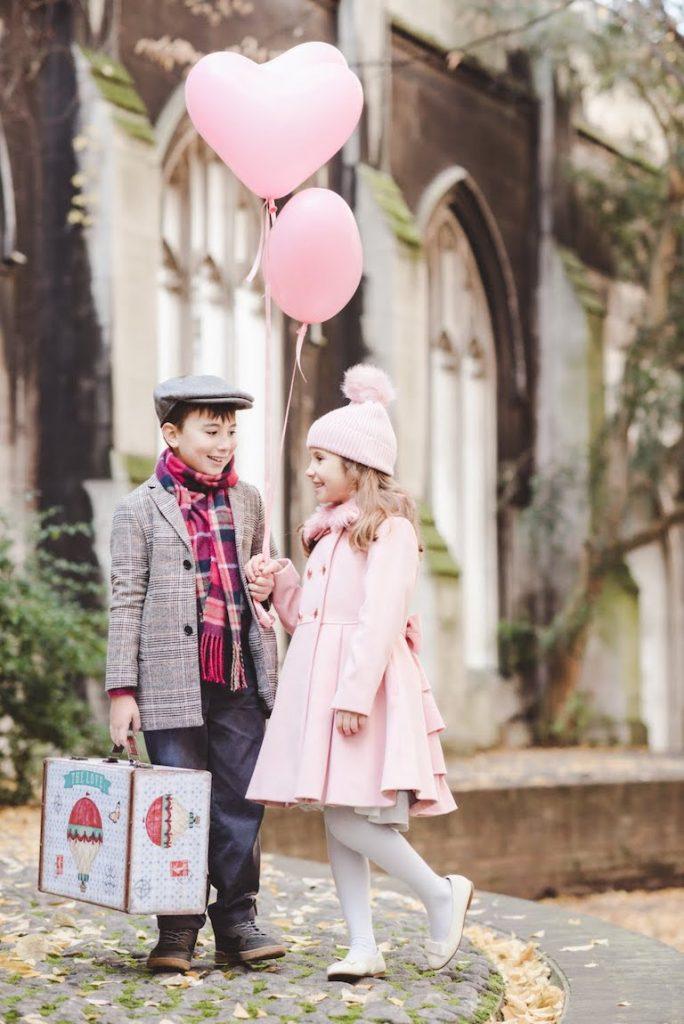 Valentines balloons helium hearts
