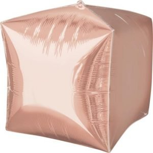 Balloonista 15 Inch Rose Gold Foil Cube Balloon 19
