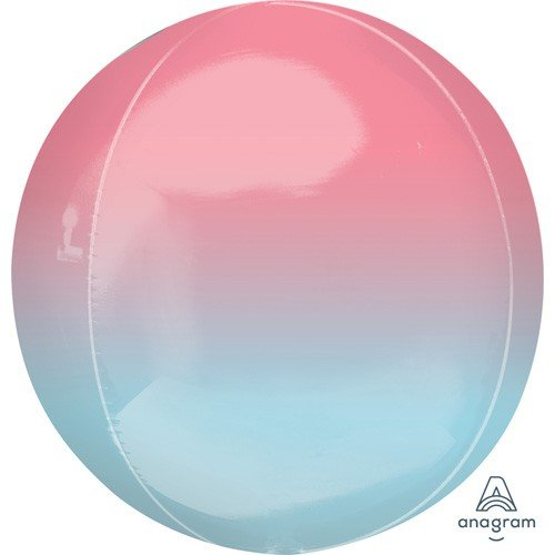 Balloonista 16 Inch Ombre Pastel Pink & Blue Foil Balloon 1