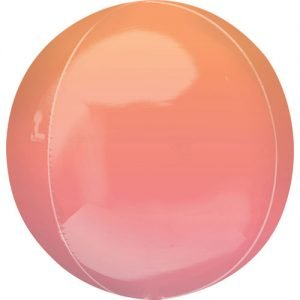 Balloonista 16 Inch Ombre Red & Orange Foil Balloon 10