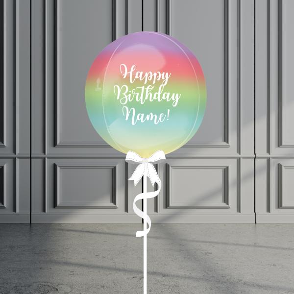 Balloonista Rainbow Personalise Orbz Balloon