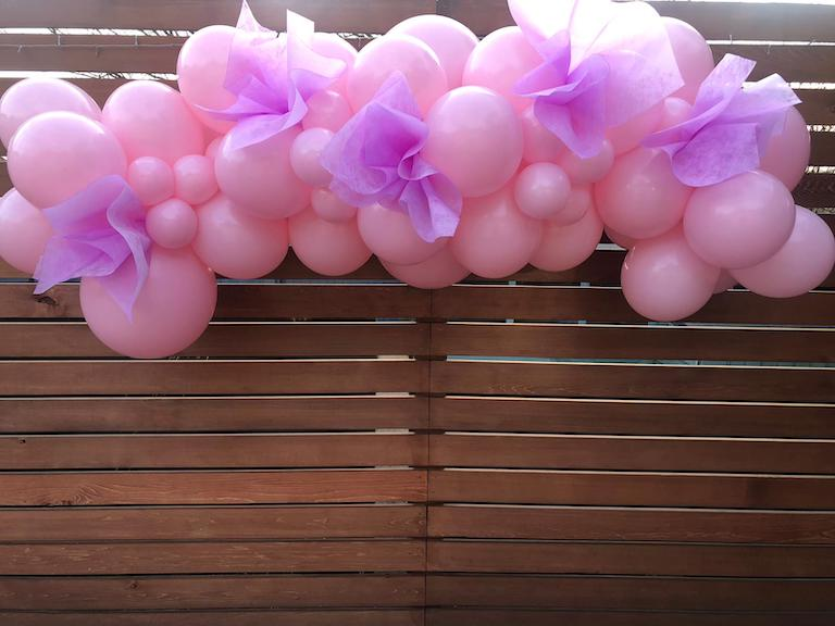 Princess Party Pink And Purple Balloon Cloud