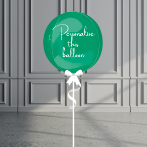 Balloonista Personalised Orb Balloon Helium Filled Green