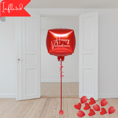 Balloonista Inflated Balloon Delivery Gifts Valentine's Personalised Cube