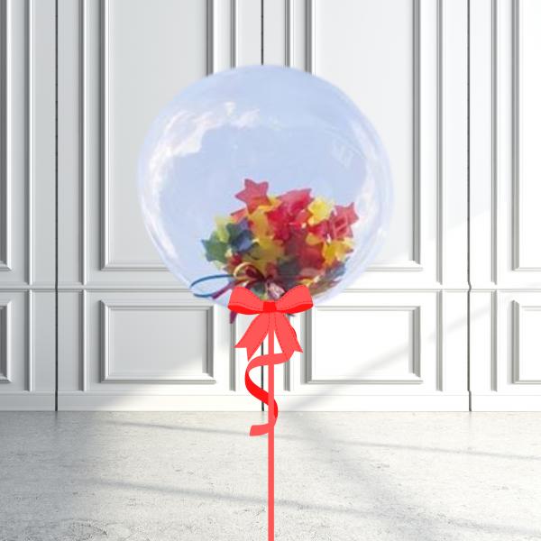Balloonista Star Rainbow Selection Confetti Bubble Balloon