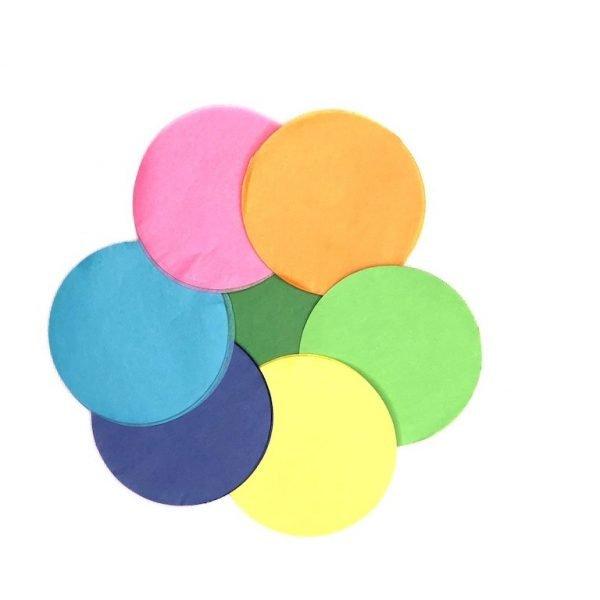 Large Rainbow Round Confetti