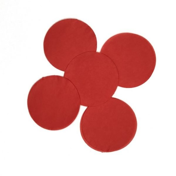 Large Red Round Confetti