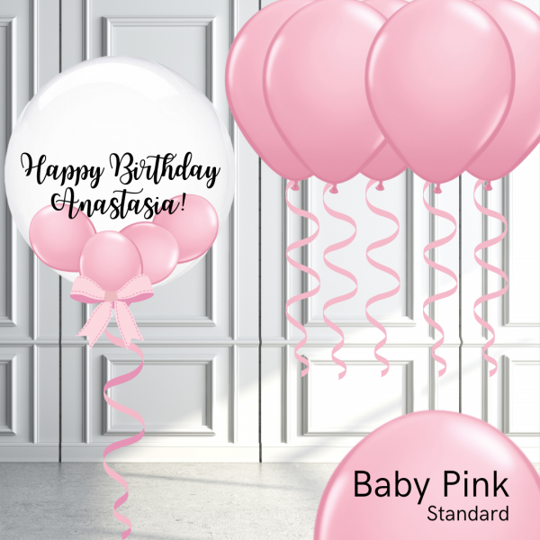 Balloonista Bubble And Latex Balloon Package Baby Pink