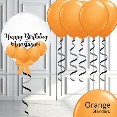 Balloonista Bubble And Latex Balloon Package Orange