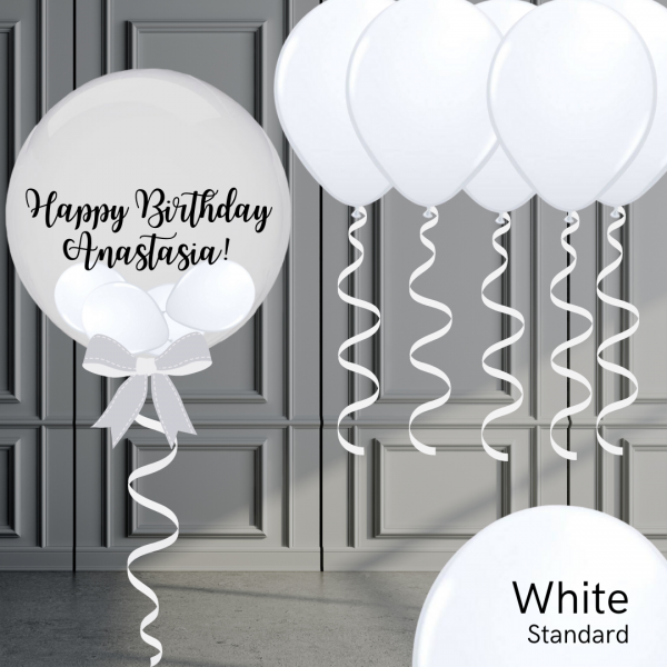 Balloonista Bubble And Latex Balloon Package White