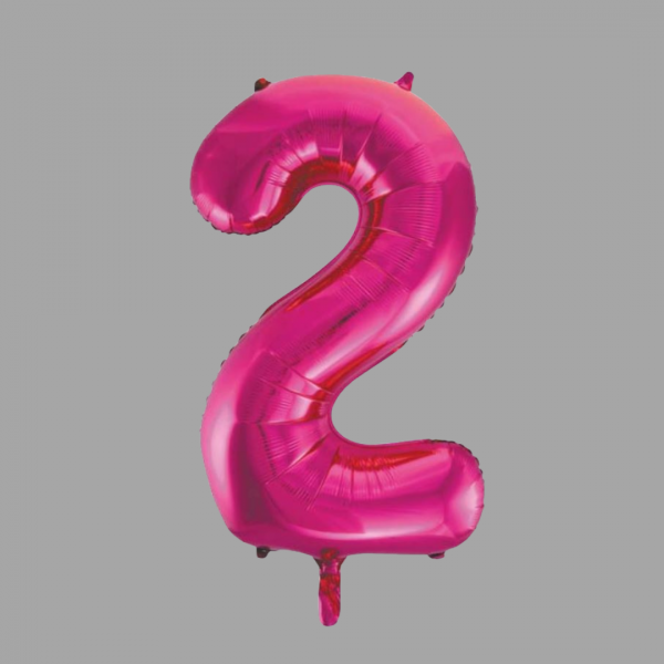 Balloonista 34 Inch Hot Pink Glitz Supershape Number 2 Two