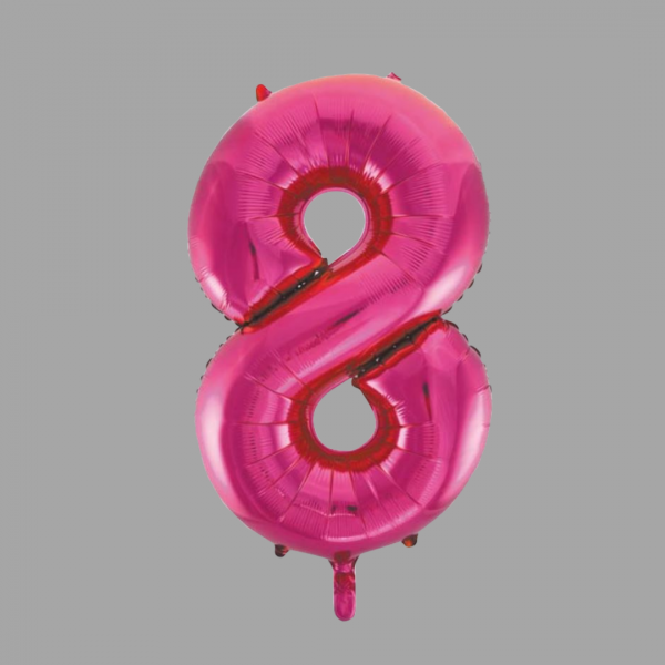 Balloonista 34 Inch Hot Pink Glitz Supershape Number 8 Eight