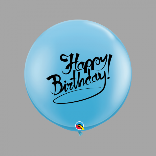 Balloonista Happy Birthday 3 Foot Blue