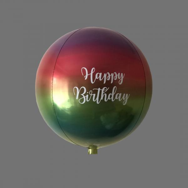 Balloonista Rainbow Orbz Personalised