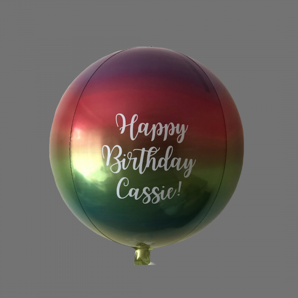 Balloonista Rainbow Orbz Personalised With Name