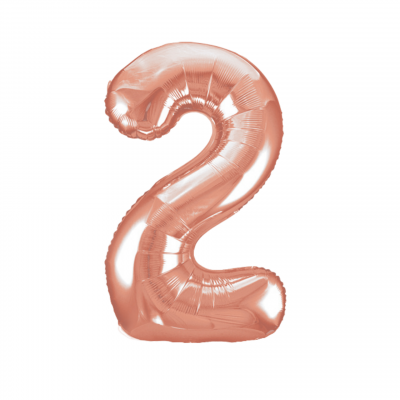 Balloonista Rose Gold Giant Number Balloon 2