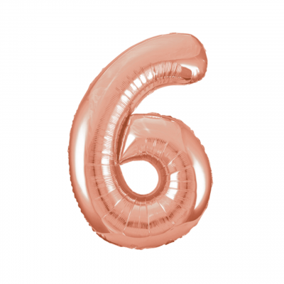 Balloonista Rose Gold Giant Number Balloon 6