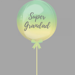 Balloonista Super Grandad Balloon Ombre Rainbow Green Yellow