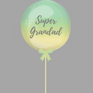 Balloonista Super Grandad Balloon Ombre Rainbow Green Yellow