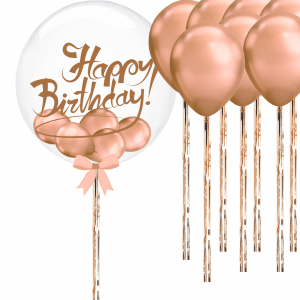 Balloonista Clear Bubble Rose Gold Bundle