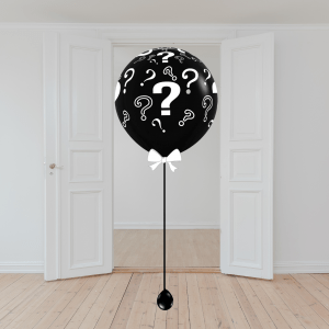 Balloonista Giand Inflated Balloon Delivery Gender Reveal Black