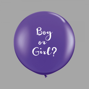 Purple gender reveal balloon