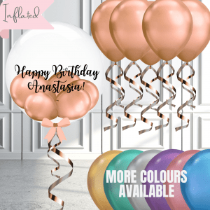 bubble balloon with mini balloons and ceiling balloon set