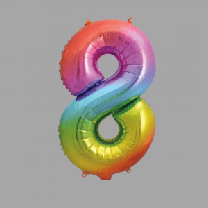 Balloonista Rainbow Supershape Number 8 Eight