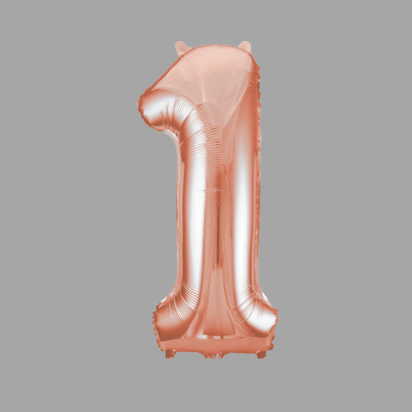 Balloonista Rose Gold Supershape Number 1 One