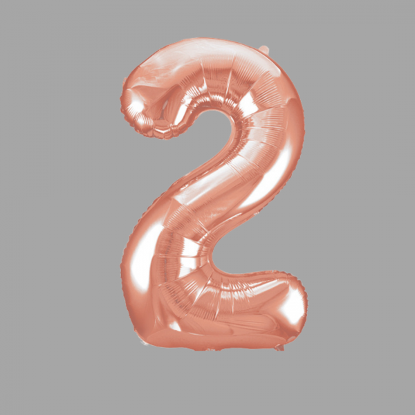 Balloonista Rose Gold Supershape Number 2 Two