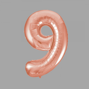 Balloonista Rose Gold Supershape Number 9 Nine