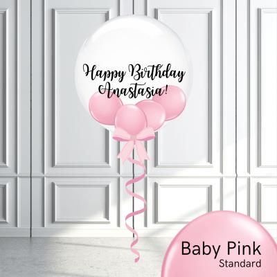 Balloonista Stuffed Clear Bubble Balloon Baby Pink
