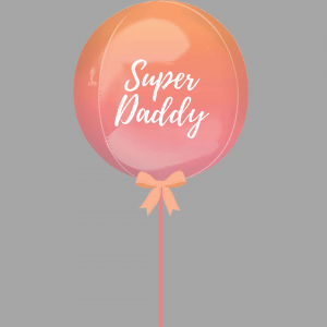 Superdaddy Balloonista Ombre Red Orange Balloon