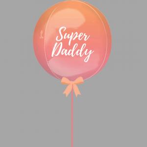 Superdaddy Balloonista Ombre Red Orange Balloon