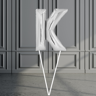Balloonista Giant Letters Silver K