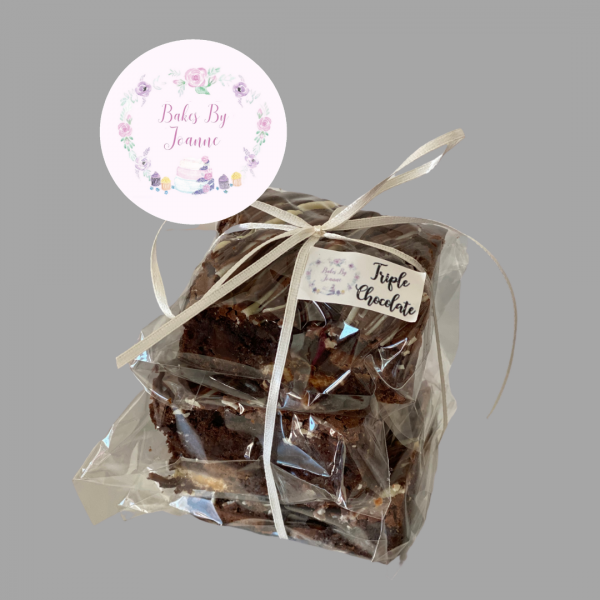 Bakes By Joanne Tripple Chocolate Brownie Balloon Gift Filler Stack Of Three