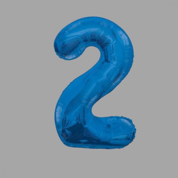 Balloonista Blue Supershape Number 34 Inch 2