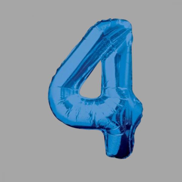 Balloonista Blue Supershape Number 34 Inch 4