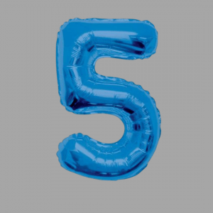 Balloonista Blue Supershape Number 34 Inch 5