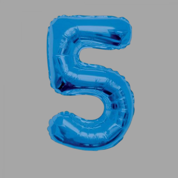 Balloonista Blue Supershape Number 34 Inch 5