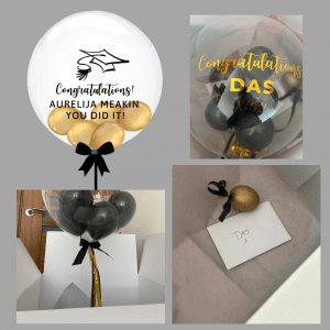 Balloonista Graduadtion Balloon Gold And Black Chrome Gold Balloon For Graduation Celebration