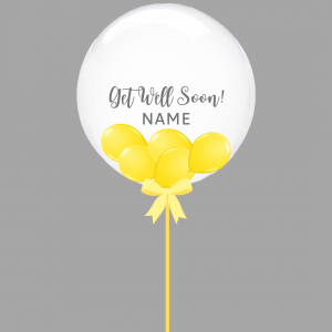Balloonista Get Well Balloon Clear Bubble With Yellow Mini Balloons Inside