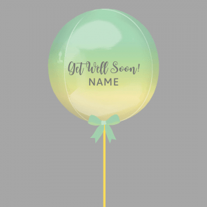 Balloonista Get Well Balloon Green Yellow Ombre Rainbow Balloon