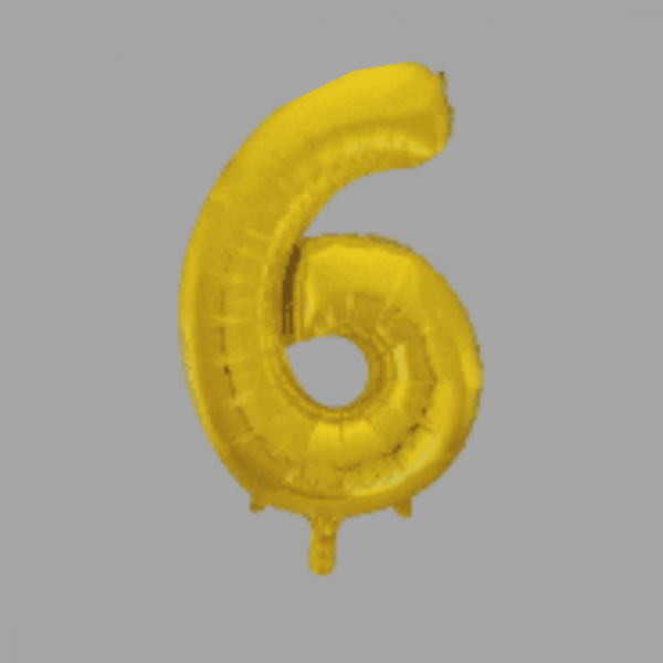 Balloonista Gold Supershape Number 34 Inch 6