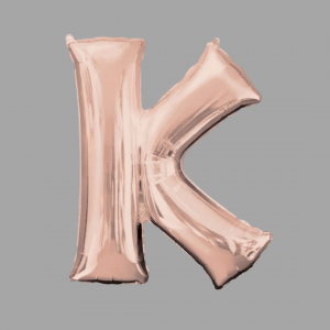 Rose Gold Supershape Letter K 34 Inch Balloonista