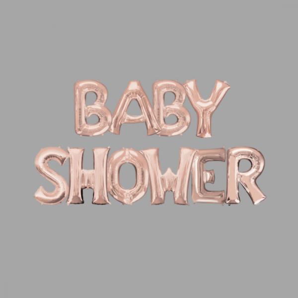 Rose Gold Balloon Letter Word Baby Shower