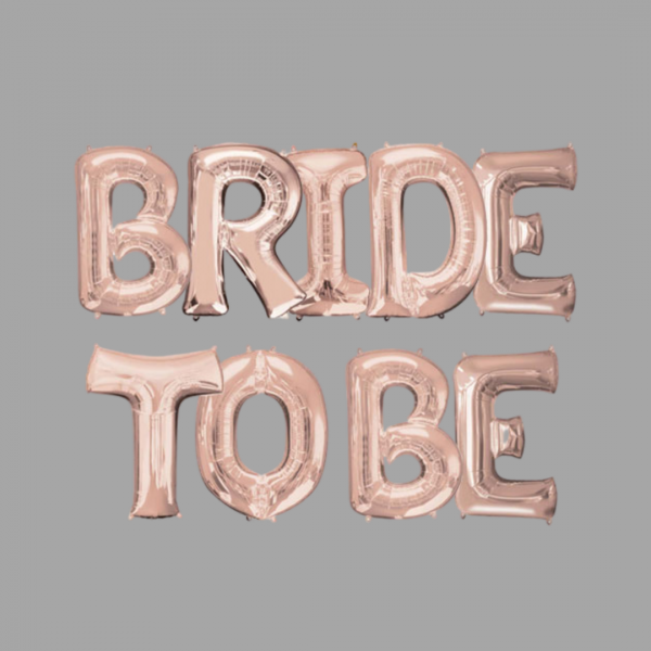 Rose Gold Balloon Letter Word Bride To Be