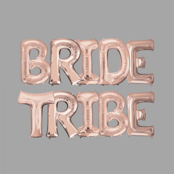 Rose Gold Balloon Letter Word Bride Tribe